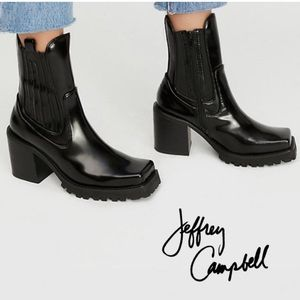NEW Jeffrey Campbell Elkins Chelsea Black Boots 6